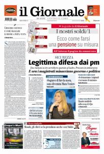Una recente prima pagina de Il Giornale, ora diretto da Alessandro Sallusti