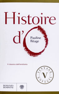 La copertina di una recente edizione italiana di Histoire d'O di Pauline Réage