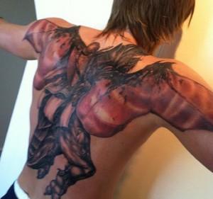 La schiena tatuata di Andrej Kirilenko