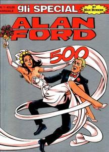Alan Ford e Minuette Macon sulla copertina di un albo speciale che ha celebrato il loro matrimonio
