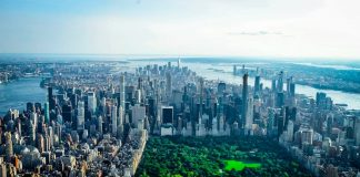 New York vista dall'alto