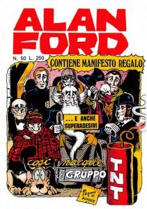 La copertina del celebre numero 50, in cui il Numero Uno raccontava l'origine del Gruppo TNT