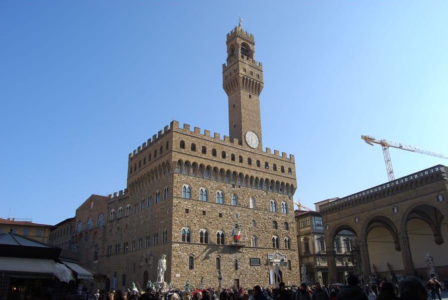 Piazza della Signoria a Firenze, col suo Palazzo Vecchio