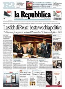 La Repubblica è il più diffuso quotidiano vicino alla sinistra, anche se a volte su posizioni critiche verso i partiti di quella parte politica
