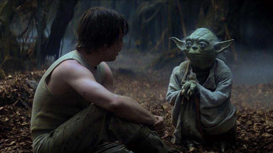 Yoda istruisce Luke Skywalker ne L'Impero colpisce ancora