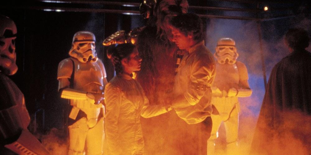 Il momento in cui Leia confida il suo amore ad Han Solo