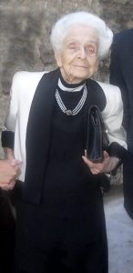 Rita Levi-Montalcini nel 2007 (foto di Jollyroger via Wikimedia Commons)