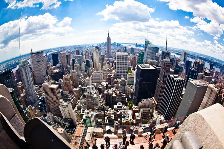 La splendida vista di New York dal Top of the Rock