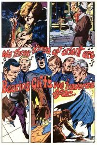 Batman impegnato nei canti di Natale