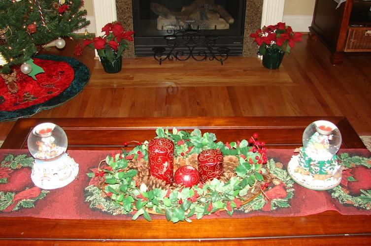 Un tipico centrotavola natalizio