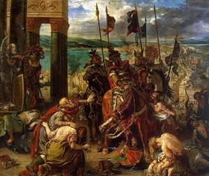 Crociati a Costantinopoli in un dipinto di Delacroix