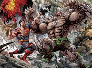 Doomsday combatte con Superman