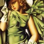 Ragazza con guanti, famoso quadro di Tamara de Lempicka