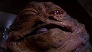 Il mostruoso Jabba the Hutt, nemico di Han Solo