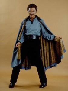 Il mercenario Lando Calrissian, personaggio che assume un ruolo decisivo negli ultimi due film della trilogia originale