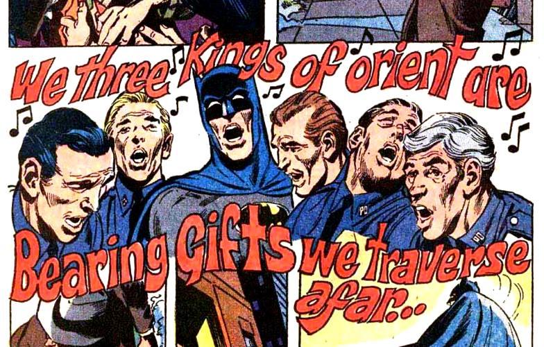 Una sequenza inedita per il Cavaliere Oscuro: Batman che esegue allegri canti natalizi