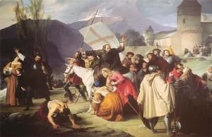 Pietro l'eremita guida la Crociata dei pezzenti in un dipinto di Francesco Hayez