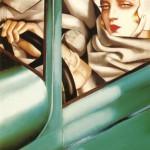 Il Ritratto nella Bugatti verde