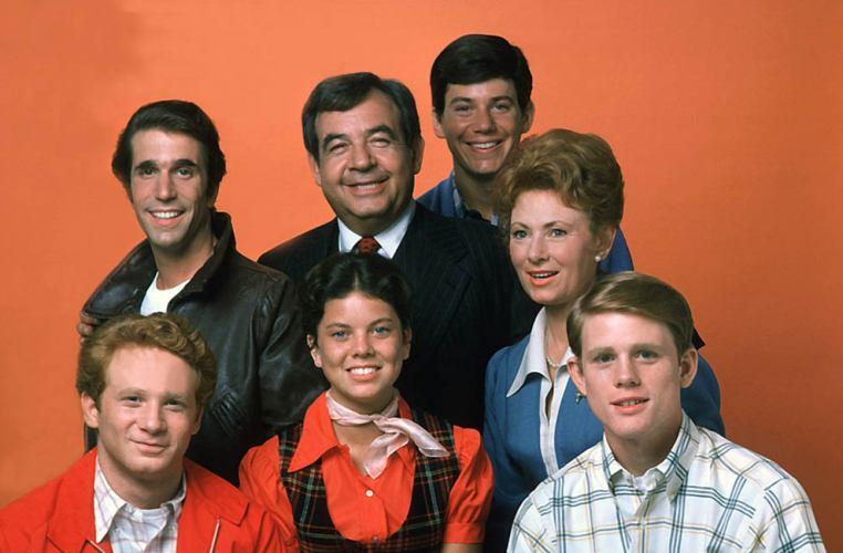 Il cast originario di Happy Days, una delle serie di culto degli anni '70