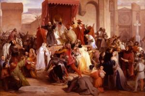 Urbano II indice la Prima crociata in un dipinto di Hayez