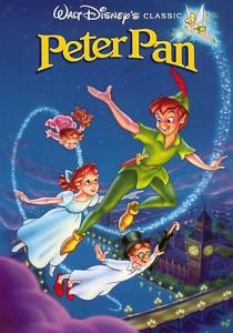 La copertina del DVD del Peter Pan della Disney