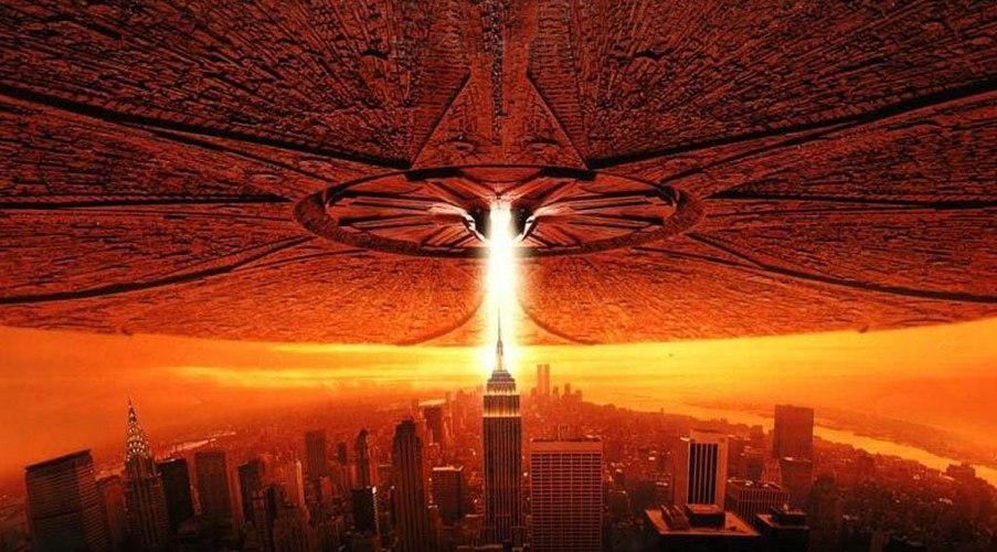 Una scena di Independence Day, uno dei più famosi film sulle invasioni aliene