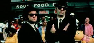 John Belushi e Dan Aykroyd nei panni dei Blues Brothers