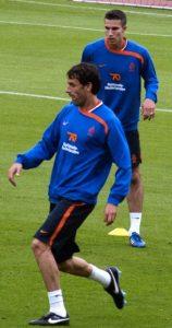 Ruud van Nistelrooy in allenamento con Robin van Persie (foto di Jacoplane via Wikimedia Commons)