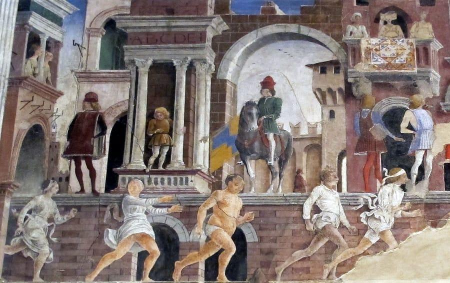 Gli affreschi di Palazzo Schifanoia (foto di Sailko via Wikipedia)