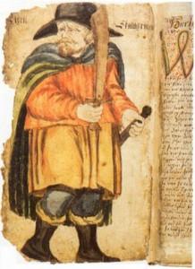 Egill Skallagrímsson in un codice medievale