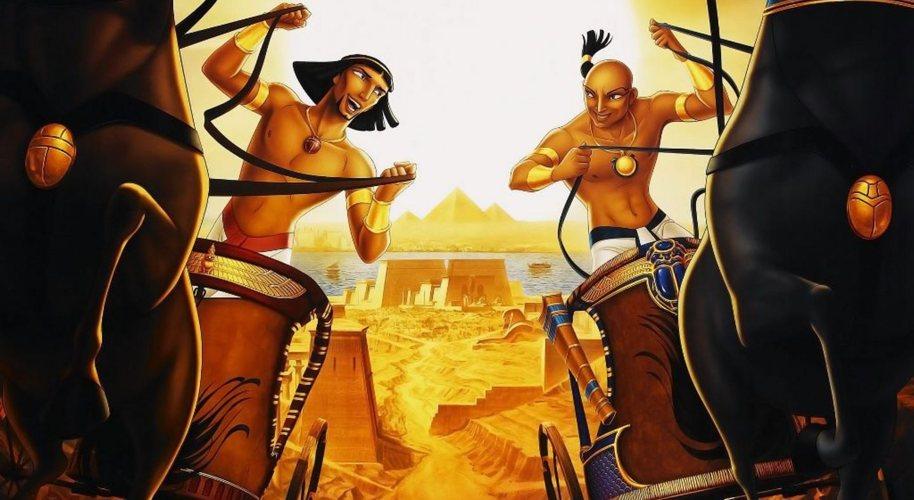 Mosè gioca col futuro faraone in