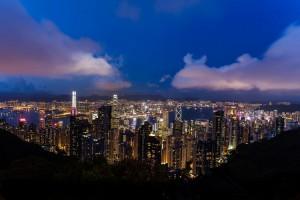 Lo skyline di Hong Kong, una delle città più popolose della Cina