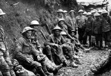 Soldati al fronte durante la Prima Guerra Mondiale