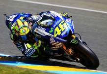 Valentino Rossi sulla sua moto, col suo solito numero 46