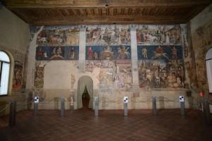 Il Salone dei Mesi all'interno di Palazzo Schifanoia