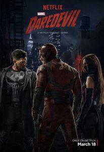 Daredevil con Punisher ed Elektra