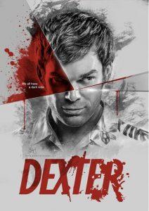 Un poster pubblicitario di Dexter