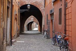 Scorcio di Via delle Volte a Ferrara