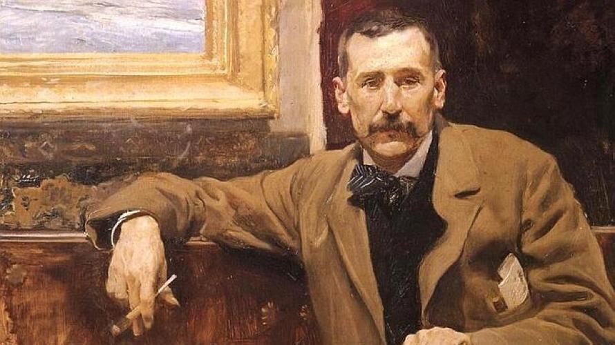 Benito Pérez Galdós in un ritratto di Joaquín Sorolla