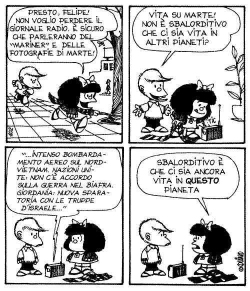 Mafalda e i problemi del mondo