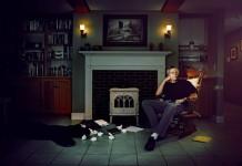 Stephen King ritratto nella sua casa