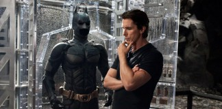 Christian Bale col costume da Batman, indossato in tre film