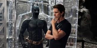 Christian Bale col costume da Batman, indossato in tre film