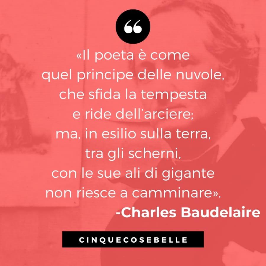 Un brano de L'albatro di Charles Baudelaire