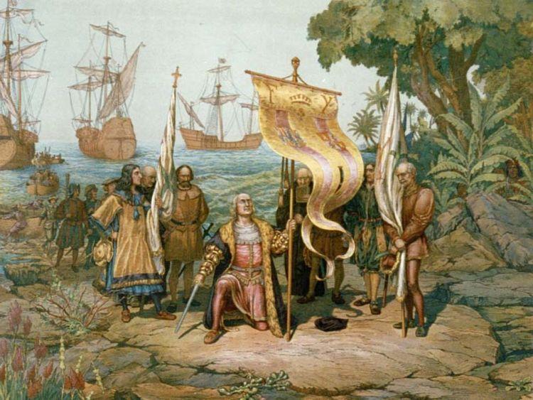 Cristoforo Colombo sbarca in America