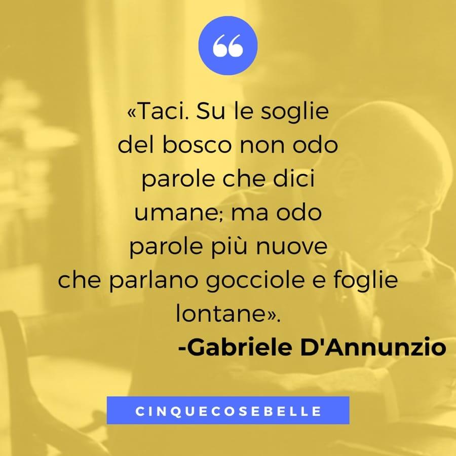 Un brano de La pioggia nel pineto di Gabriele D'Annunzio