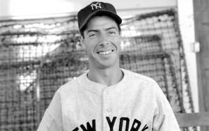 Joe DiMaggio quando giocava per gli Yankees
