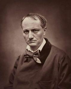 Charles Baudelaire in una celebre foto di Étienne Carjat