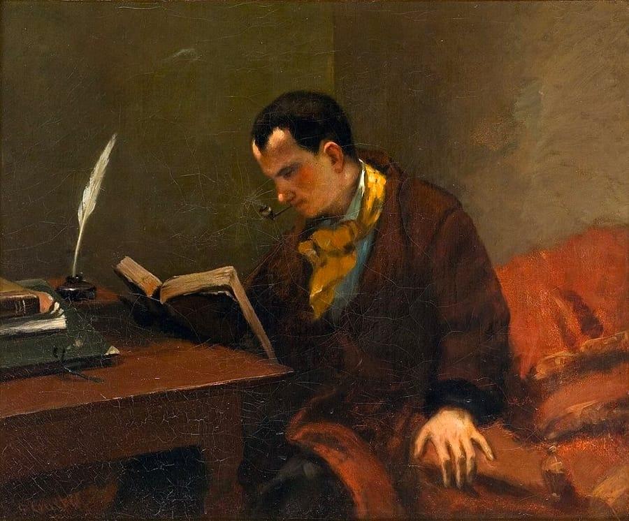 Ritratto di Charles Baudelaire ad opera di Gustave Courbet