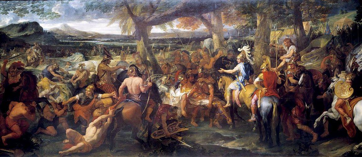 Alessandro Magno durante la Battaglia dell'Idaspe, nell'attuale Pakistan